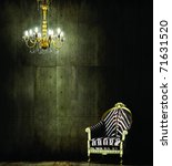 Zebra Chair Royal Chandelier - Fine Art prints