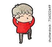 cartoon curious boy   Shutterstock .eps vector #716322649