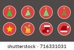 the icons design for christmas... | Shutterstock .eps vector #716331031