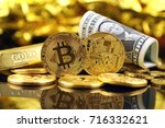 physical version of bitcoin ... | Shutterstock . vector #716332621