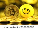 physical version of bitcoin ... | Shutterstock . vector #716333635