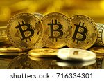 physical version of bitcoin ... | Shutterstock . vector #716334301