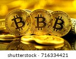 physical version of bitcoin ... | Shutterstock . vector #716334421