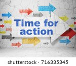 time concept   arrow with time... | Shutterstock . vector #716335345