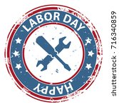 happy labor day in usa rubber... | Shutterstock .eps vector #716340859