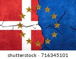 european union and denmark... | Shutterstock . vector #716345101