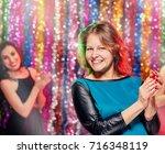 Clubbers Pretty Women Having...