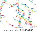 color wheel series. composition ... | Shutterstock . vector #716356735