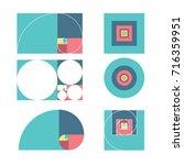 golden ratio template vector... | Shutterstock .eps vector #716359951