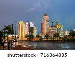 atlanta  usa. illuminated... | Shutterstock . vector #716364835