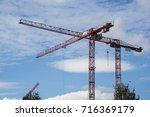 tower cranes | Shutterstock . vector #716369179