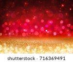 bokeh background   glittering... | Shutterstock . vector #716369491