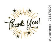 thank you  beautiful greeting...   Shutterstock .eps vector #716370304