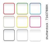 empty square sticker button set | Shutterstock .eps vector #716378884