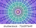illustration of a kaleidoscope  ... | Shutterstock . vector #716397649
