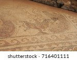 mosiac floor from the ruins... | Shutterstock . vector #716401111