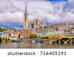 the small fishing port of cobh  ... | Shutterstock . vector #716405191