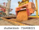 sugar bulk load into vessel at... | Shutterstock . vector #716408221