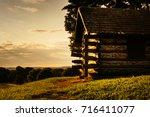 Cabin At Sunrise