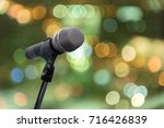 microphone in concert hall ... | Shutterstock . vector #716426839