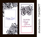 vintage delicate invitation... | Shutterstock . vector #716428477