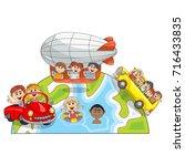 children around the world... | Shutterstock .eps vector #716433835