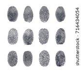 fingerprint vector set   Shutterstock .eps vector #716434054