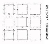 black modern line square frames ... | Shutterstock .eps vector #716434435