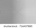 black white dotted halftone... | Shutterstock .eps vector #716437885