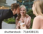 young adult student people... | Shutterstock . vector #716438131