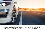 the front of the sports car the ... | Shutterstock . vector #716445655