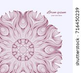 vintage invitation card with... | Shutterstock .eps vector #716450239