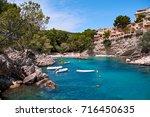 sea bay a beautiful summer day... | Shutterstock . vector #716450635