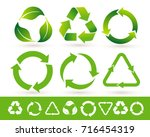 Recycled Cycle Arrows Icon Set...