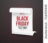 illustration of black friday... | Shutterstock .eps vector #716454445