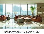 luxury lobby interior.   Shutterstock . vector #716457139