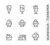 icon ice cream  vector | Shutterstock .eps vector #716460904