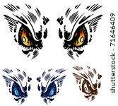 an image of a owl eyes.   Shutterstock . vector #71646409