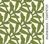 christmas interlaced mistletoe... | Shutterstock .eps vector #716474725