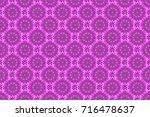 editable. elegant seamless... | Shutterstock . vector #716478637