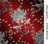 vector golden pattern....   Shutterstock .eps vector #716487361