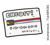 cartoon credit card | Shutterstock .eps vector #716489281