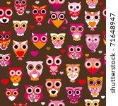 seamless cute colourfull retro...   Shutterstock .eps vector #71648947