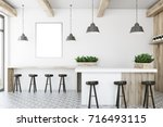 white bar interior with a... | Shutterstock . vector #716493115