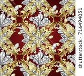 backdrop  fabric  gold... | Shutterstock .eps vector #716494051