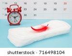 menstrual pads  blood period... | Shutterstock . vector #716498104