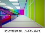 abstract white and colored... | Shutterstock . vector #716501695