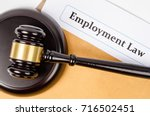 employment law documet and... | Shutterstock . vector #716502451