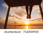 mindfulness concept  woman... | Shutterstock . vector #716504935