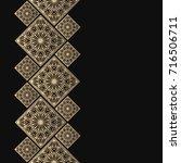 golden frame in oriental style. ...   Shutterstock .eps vector #716506711
